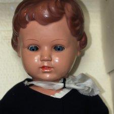 """Schildkrötpuppe """"URSEL"""" 1960-65 рост 70 см в оригинальном картоне."""