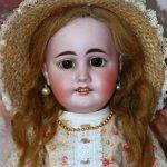 Очаровательная  антикварная кукла Gebruder Kuhnlenz 44-32, рост 61 см