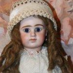 Антикварная французская кукла Denamur  9 с закрытым ротиком. 54 см