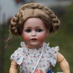 Немецкая антикварная характерная кукла Kestner 257 с лошадкой 41 см