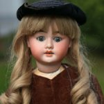 Очень редкая австрийская антикварная кукла Aich, Menzel  63 cm