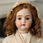 Большая характерная французская кукла LECONTE et CiE, 64 см