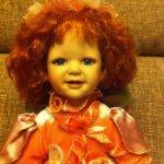 Фарфоровая кукла рыжулька Даша