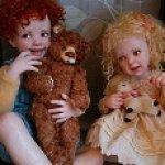 Сашенька и Машенька. Авторские куклы от Jane Bradbury