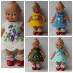 Радужные платьица с вышивкой на Kewpie dolls, Кьюпи ростом 19-22 см, новая партия