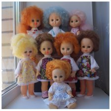 Третья июльская выписка. Вылечила восемь кукол СССР! И всем сшила наряды - за неделю