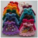 Нарядные радужные платьица для малюток Кьюпи Kewpie dolls ростом 20 см