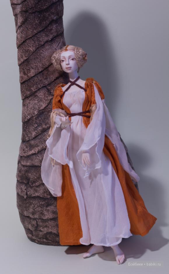 Фарфоровая шарнирная кукла Айседора  Елены Акимовой