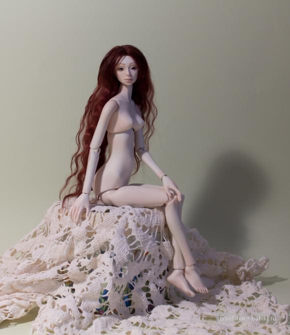 фарфоровая шарнирная кукла Мари, Елены Акимовой