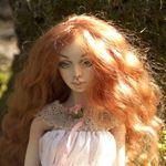 Адель, шарнирная фарфоровая кукла Елены Акимовой