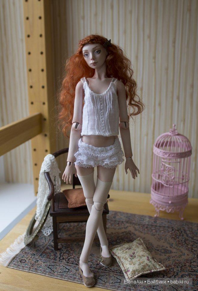 Алиса, шарнирная кукла Елены Акимовой