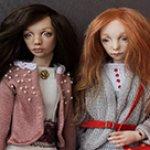 Арина и Изабэль - шарнирные фарфоровые куклы Елены Акимовой. Новый формат