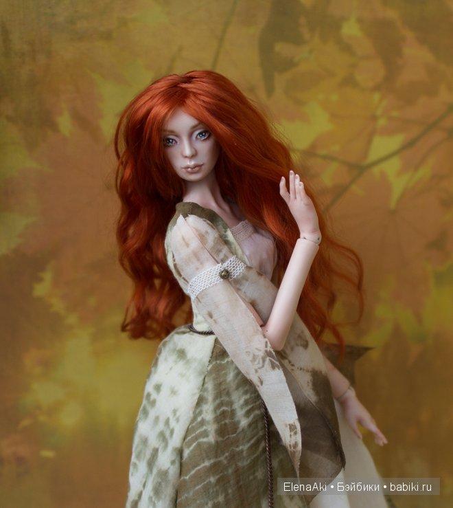 Адэль, шарнирная кукла Елены Акимовой