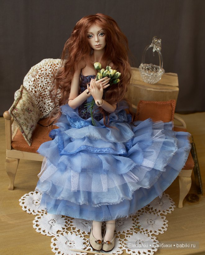 Мари, шарнирная кукла Елены Акимовой