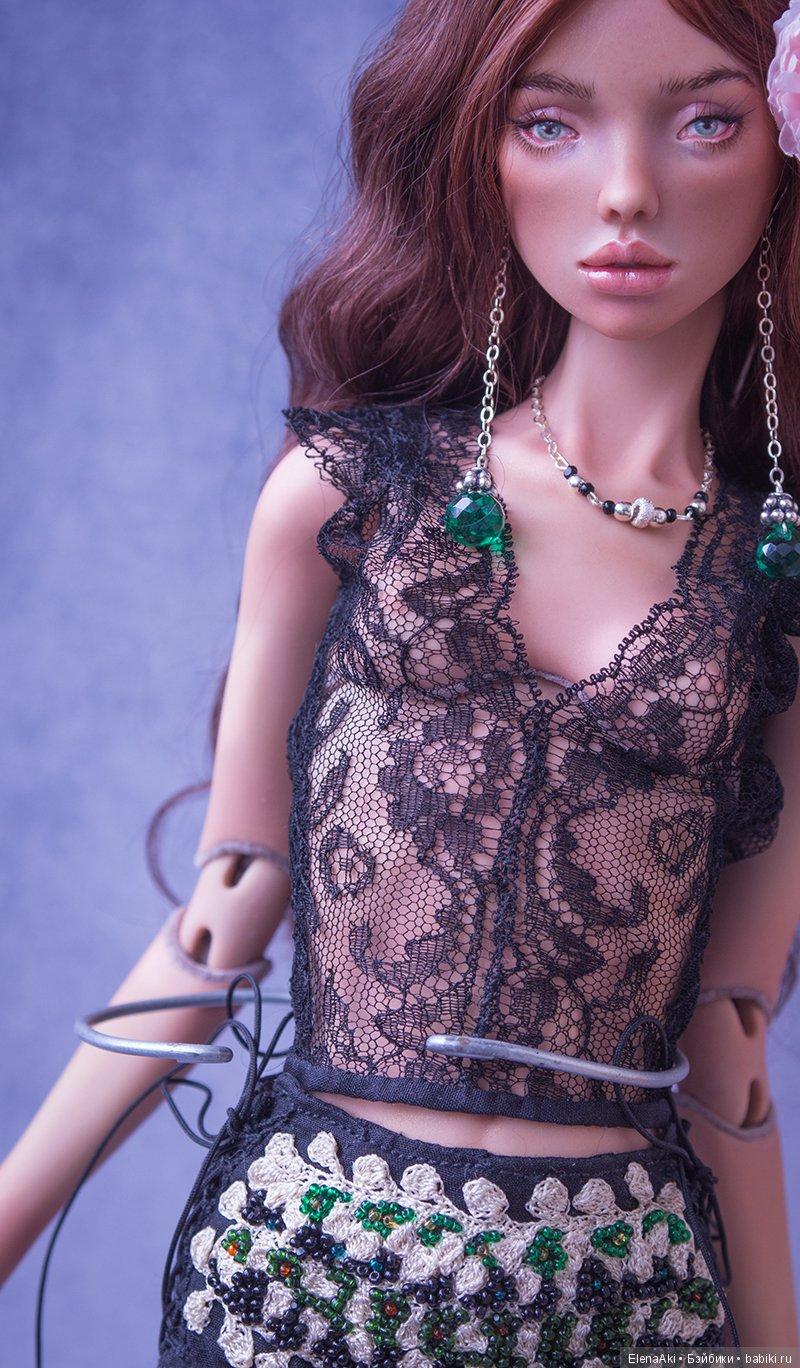 Шарнирная фарфоровая кукла Елены Акимовой