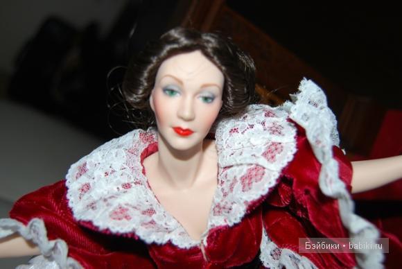 Скарлетт и Ретт-самая красивая история любви...Коллекционные фарфоровые куклы