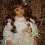 Нежная фарфоровая кукла Madeleine автор Ann Timmerman