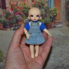 Сет одежды с юбкой для маленьких куколок 10-12 см.