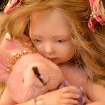 Авторские куклы из фарфора к выставке