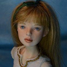 Мила в образе. Шарнирная кукла ручной работы