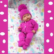 Лиловое очарование- Комплект одежды для куклы- малыша ростом 32- 36 см.
