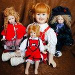 Необычные характерные куклы от известного мастера Christel Flörchinger