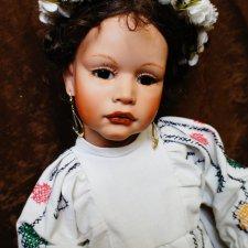 Необычная волшебная фарфоровая кукла Мария от Elin Lindtner, 1994
