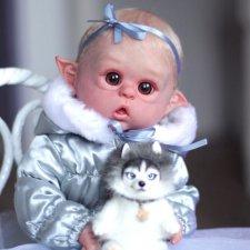 Эльза! Зимняя Эльфиечка! Кукла Реборн Даши Костенко
