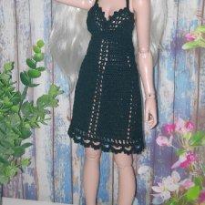 Маленькое черное платье для куклы Минифи (Minifee)