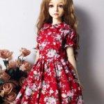Платье на БЖД куклу формата MSD