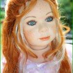 Нежная красавица, фарфоровая кукла Снежинка