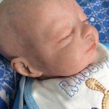 Новорожденный спящий малыш, реборн