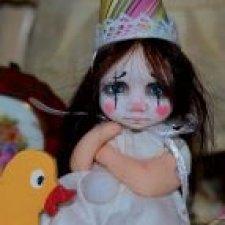 Грустный клоун. Авторская кукла.
