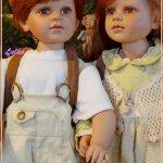 Коллекционные виниловые куклы от William Tung: Мария и Матвей