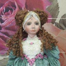 Принцесса-лягушка. Фарфоровая кукла Теодора от Патриции Стивенс Ловелесс из лимитированной коллекции прошлых лет