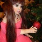 В Новый Год с Магали, фарфоровой куклой от Сильвии Везер, Sylvia Weser