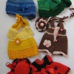 Лот вязаной одежды на кукол 15-16см