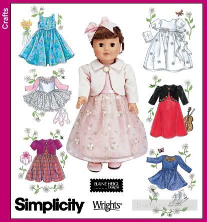 Выкройка платьев на кукол 30 см