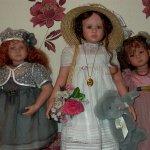 И снова девочки Ruth Treffeisen - Sandrine, Verena и малышка Uta