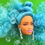 Голова куклы Barbie Экстра с голубыми волосами