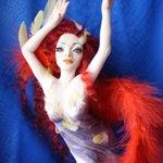 Жар-птица или Феникс -2. Авторская кукла своими руками
