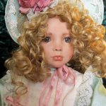 Прекрасная фарфоровая кукла Alexa от Linda Mason