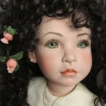 Нежнейший цветок...  Фарфоровая кукла Eve от Marilyn Bolden