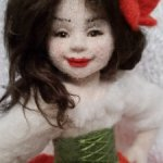 Маковка. Авторская войлочная куколка Анны Потаповой.