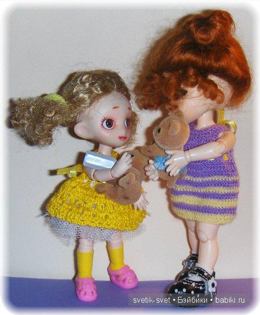 платье для куклы БЖД, обитсу, Obitsu