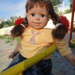 Даша на площадке. Кукла Smoby Roxanne