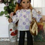 туника и джинсы для куколок Готц Gotz (Ханна, Снегурочка)