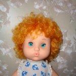 Куколка из СССР Анютка, в родной одежде , с соской.