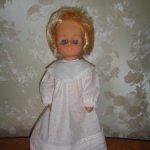 Полностью резиновая кукла в родном платье
