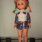 Кукла ГДР в родном платье и туфельках